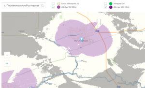 Карта покрытия МегаФон в с. Песчанокопское